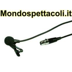 Microfono a elettrete Lavalier con clip e cavo 6m ECM-300L