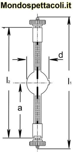Lampada a scarica HMI 1200 W/S