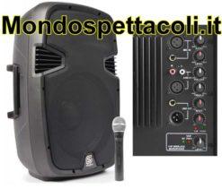 """Cassa amplificata con radiomicrofono da 12"""" - Skyec SPJ 1200A"""