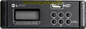 RCF LIVEPAD PLAYER / RECORDER CARD L-PAD USB MP3