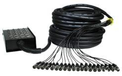 Ciabatta microfonica - W Audio XLR Multicore 16/4 30m