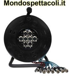 Ciabatta microfonica - W Audio XLR Multicore Drum 6/2 15m