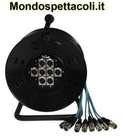 Ciabatta microfonica - W Audio XLR Multicore Drum 8-Way 25m