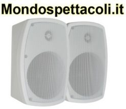 Coppia diffusori da 120W bianchi