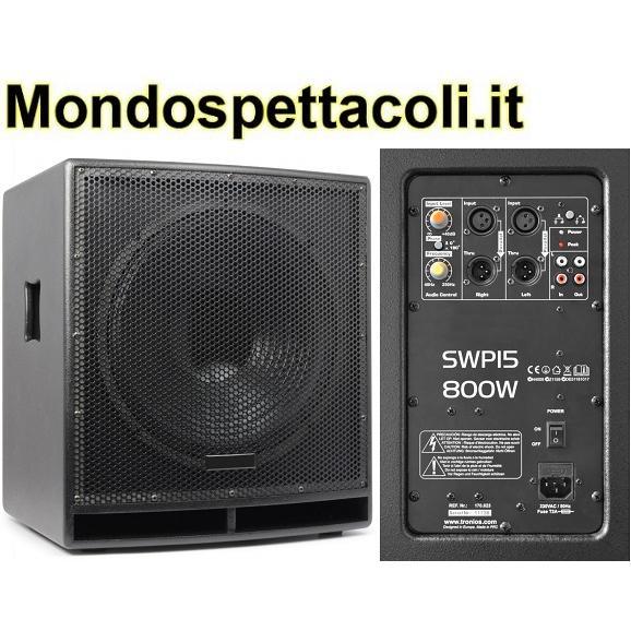 SWP15 PRO Subwoofer attivo stereo 15 pollici 800W