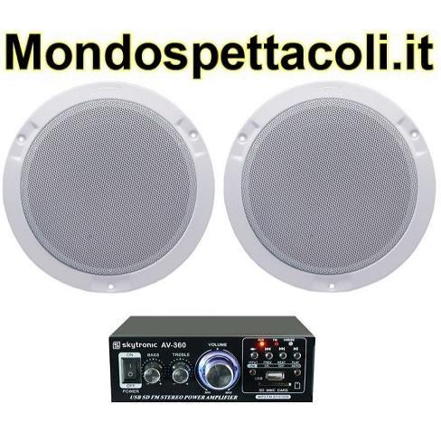 Impianto audio per negozi e bar da 20 a 50 mq su - Impianto stereo da camera ...
