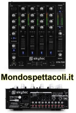 Mixer DJ STM 7010 con USB e uscite XLR
