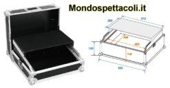 Flight case per mixer rack e PC notebook