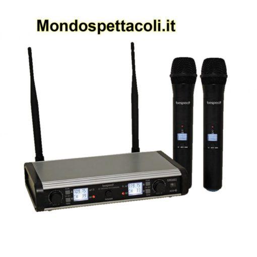 Radiomicrofono doppio 100 canali