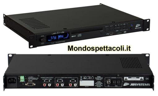 JB systems USB3.1-RDS lettore CD/USB/SD e radio