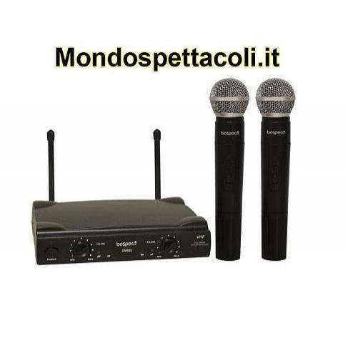 Radiomicrofono con 2 microfoni senza filo e trasmettitore