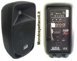 Cassa amplificata portatile con radiomicrofono MP3 e bluetooth