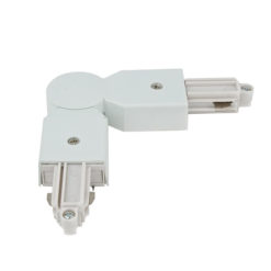 1-Phase Corner Connector Bianco - (RAL9003)