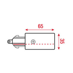 1-Phase Feed-In Connector Nero (RAL9004)