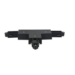 1-Phase Left T-Connector Nero (RAL9004)