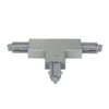 1-Phase Right T-Connector Argento (RAL9006)