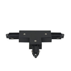 1-Phase Right T-Connector Nero (RAL9004)