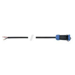 1.5 m 2x1 mm2 open end cable / 4-pin IP68 female in-line connector