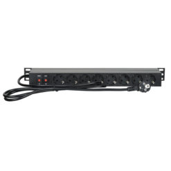 "19"" 1U Main Power Strip 16 Controllo anteriore e posteriore"