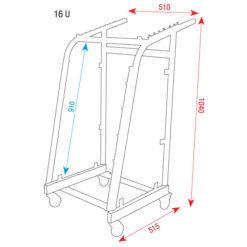 19 Inch Rack metal Con caricamento superiore non regolabile