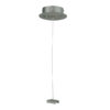 3-Phase Ceiling Suspension Kit Argento RAL9006) - Con cavo in acciaio max. 1500 mm