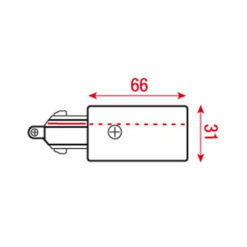 3-Phase Right Feed-In Connector Argento (RAL9006)