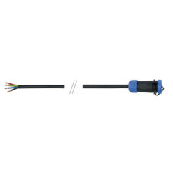 3 m 4x1 mm2 open end cable / 4-pin IP68 SP2110S female in-line connector