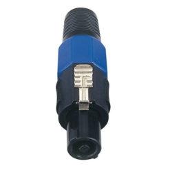 4p. Speaker Connector Male Cappuccio finale blu, maschio