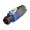 4p. Speakon Connector SPX Male Alloggiamento nero/blu