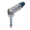 6.3mm NP-2-RX Right-Angle Jack plug Mono Mono, alloggiamento nichel