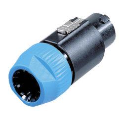 8p. Speakon Plug Female Alloggiamento nero, cappuccio blu