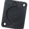 ACCESSORY Universal XLR Blanking Plate, black plast