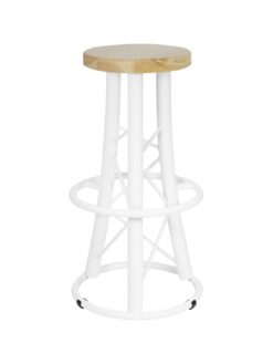 ALUTRUSS Bar Stool, curved white