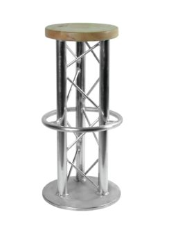 ALUTRUSS Bar Stool with Ground Plate
