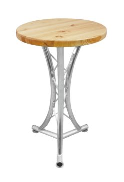 ALUTRUSS Bistro Table, curved