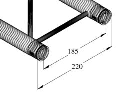 ALUTRUSS DECOLOCK DQ2-250 2-way Cross Beam