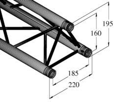 ALUTRUSS DECOLOCK DQ3-3000 3-Way Cross Beam