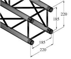ALUTRUSS DECOLOCK DQ4-750 4-Way Cross Beam