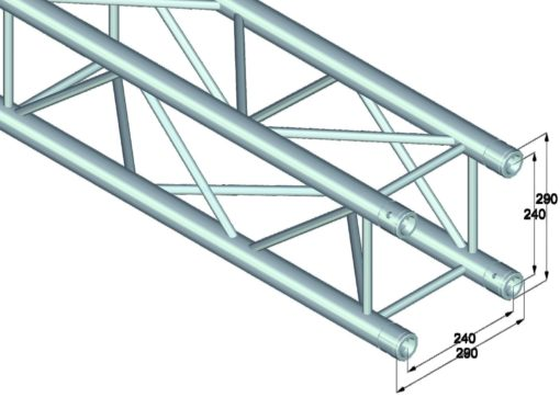 ALUTRUSS QUADLOCK QL-ET34-210 4-way cross beam