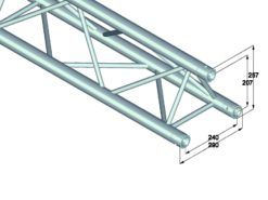 ALUTRUSS TRILOCK 6082-1000 3-Way Cross Beam