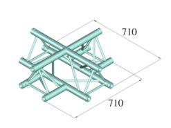 ALUTRUSS TRILOCK 6082AC-41 4-Way Cross