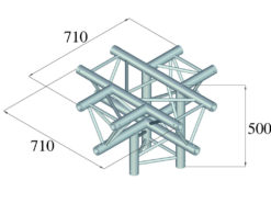 ALUTRUSS TRILOCK 6082AC-53 5-Way Piece /