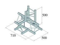 ALUTRUSS TRILOCK 6082AT-42 4-Way Piece /