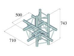 ALUTRUSS TRILOCK 6082AT-51 5-Way Piece /