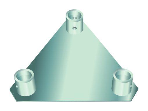 ALUTRUSS TRILOCK Base/Wall-Plate QTGP