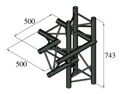 ALUTRUSS TRILOCK S-PAC-44 4-Way Piece / left