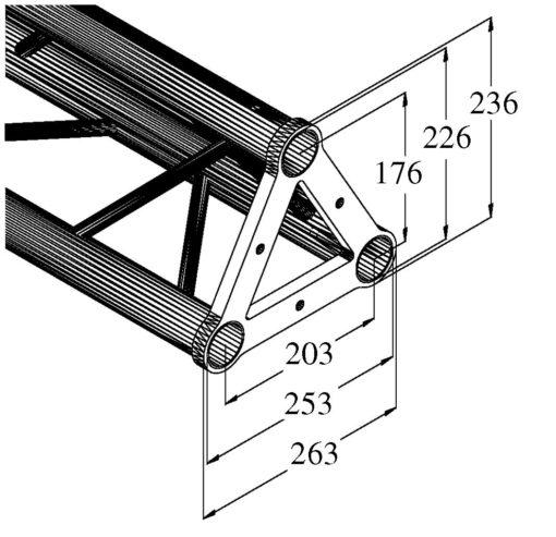 ALUTRUSS TRISYSTEM PST-4000 3-way cross beam
