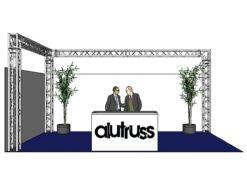 ALUTRUSS Truss set QUADLOCK 6082 L-Figure 7x4x3.5m (WxDxH)