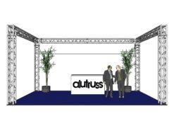 ALUTRUSS Truss set QUADLOCK 6082 U-Figure 7x4x3.5m (WxDxH)