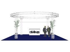 ALUTRUSS Truss set QUADLOCK 6082 circle 6.6x3.5m